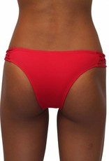 Pualani Skimpy Love with Braided Sides Red Solid