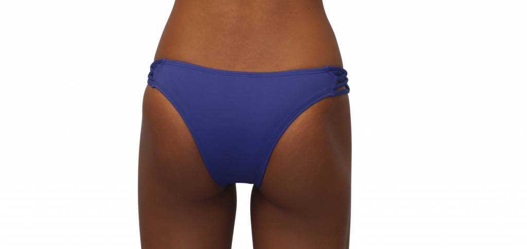 Pualani Skimpy Love with Braided Sides Blue Violet Solid
