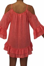 Pualani Silk Coverup Coral Solid