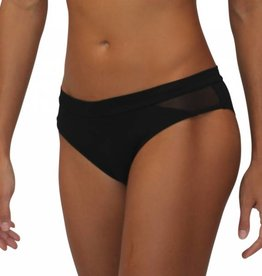 Mesh Scoop Bottom Black Solid