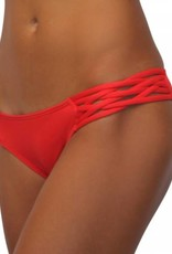 Pualani Skimpy Love with Braided Sides Orange Solid