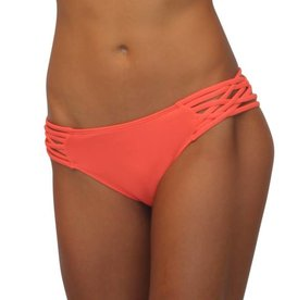 Pualani Scoop w/ Side Strings Coral Solid