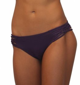 Pualani Scoop w/ Side Strings Eggplant Solid