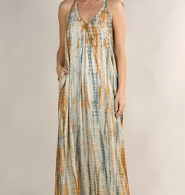 LOVESTITCH COPPER SUN MAXI DRESS