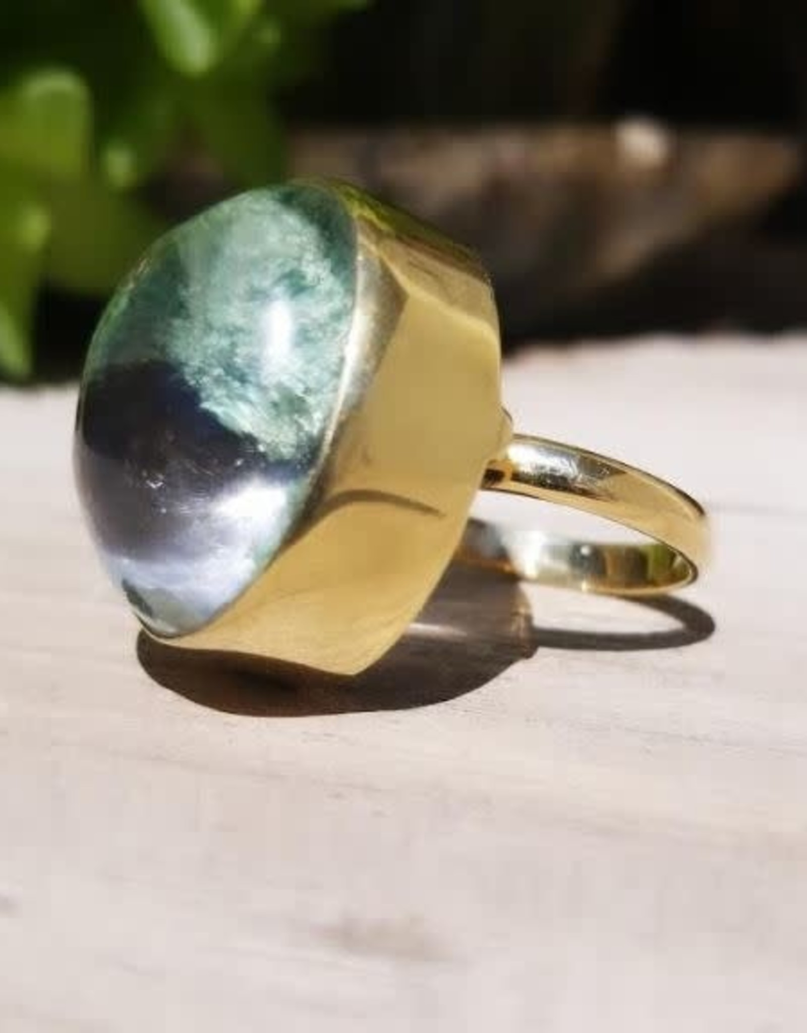 LESLIE FRANCESCA GREEN LODALITE RING