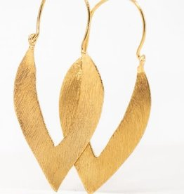 LESLIE FRANCESCA ALMOND METAL THIN EARRING