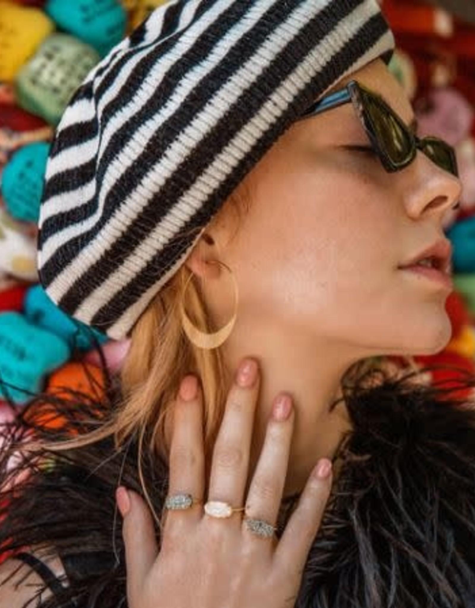 LESLIE FRANCESCA ROUND METAL THIN EARRING