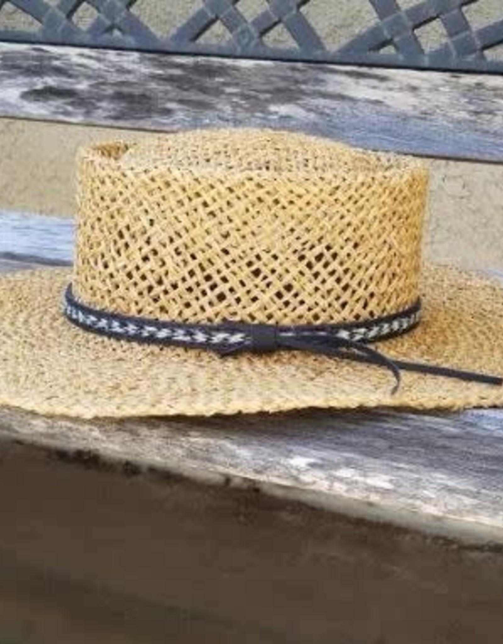 OLIVE & PIQUE WEAVER BOATER HAT