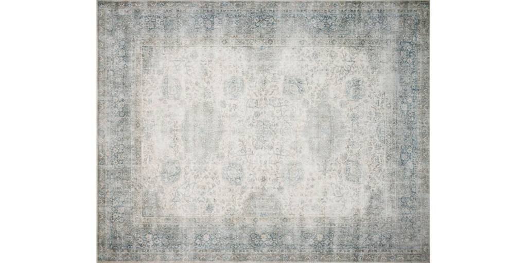 Loloi Rugs Lucca Collection Mist/Ivory