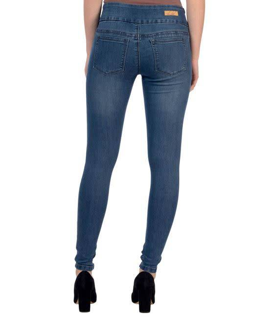 Lola Jeans Anna Mid Rise Skinny Jean Medium Blue