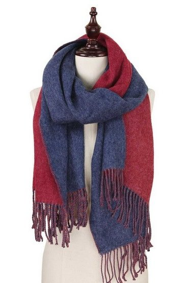 Cozy Soft Brushed Fringe Scarf Shawl