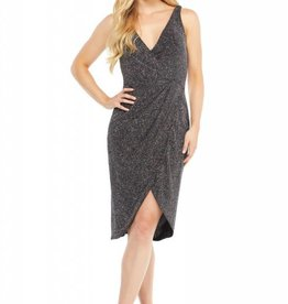 Sleeveless Cocktail Dress Gold Glitter
