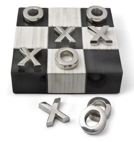 Tic Tac Toe Flat Board w Nickel Pieces