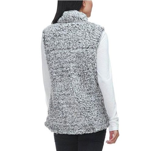 Frosty Tipped Stadium Vest Charcoal