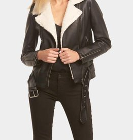 Nico Jacket Black w Cream
