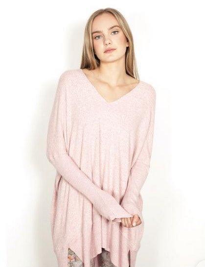 Kela V-Neck Pullover Dusty Pink