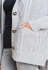 Twidled Detail Hoodie Cardigan