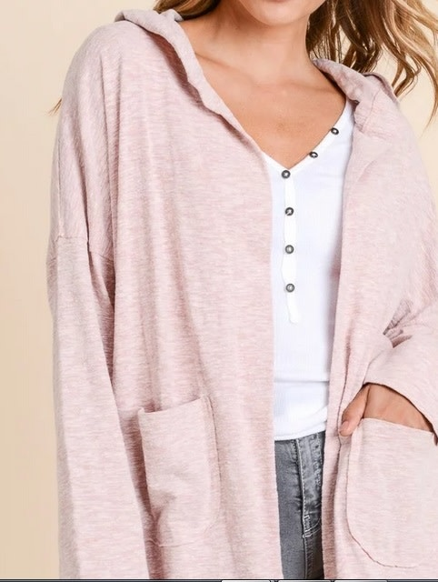 Night Cozy Cardigan Indigo Pink