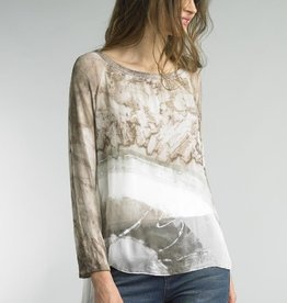 Hi Low Blouse Taupe