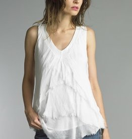 Tiered Layered Tank White