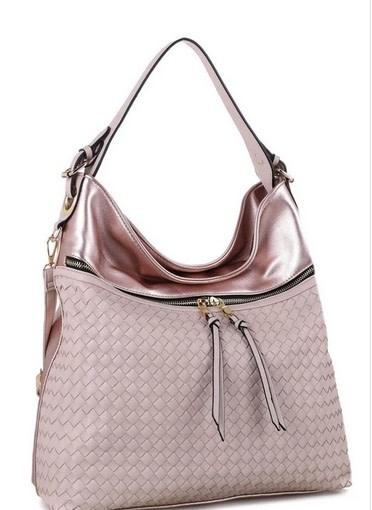 Colorblock Woven Hobo Bag