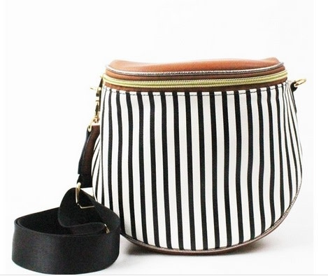 Striped Fashion Crossbody Bag