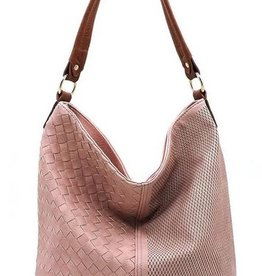 Woven Laser Cut Bucket Shoulder Bag