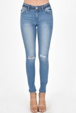 KanCan Light Wash Tattered Skinny Jean
