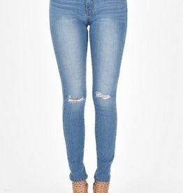 KanCan Light Wash Tattered Skinny Jean