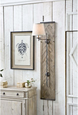 Herringbone Wood Panel Swing Arm Sconce