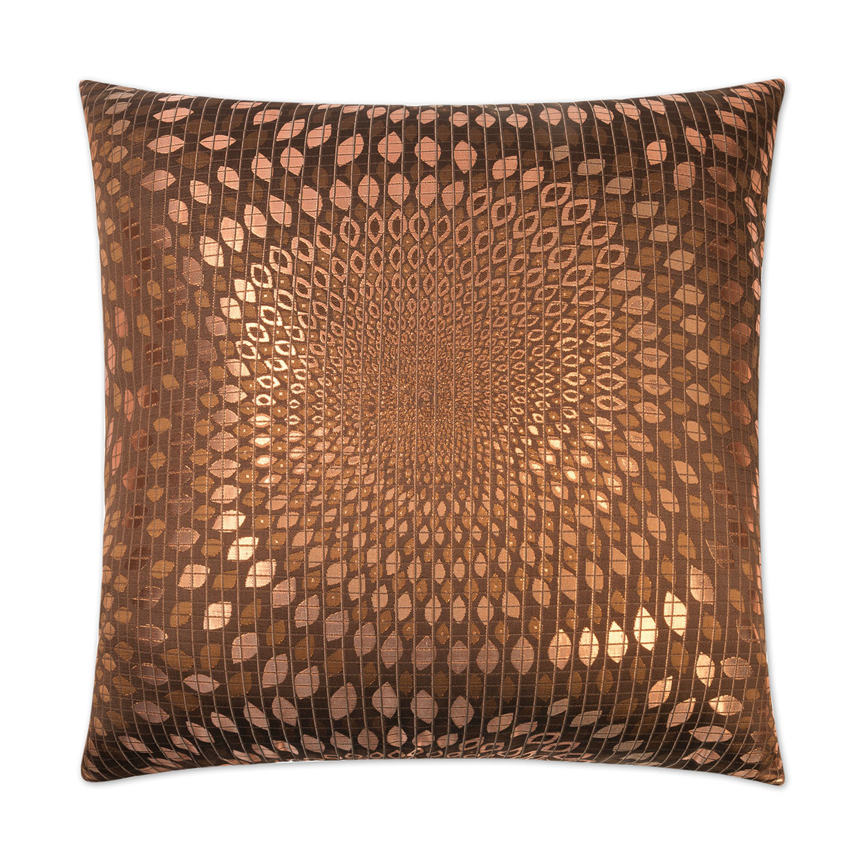 Whirl Pillow - Copper 24 x 24