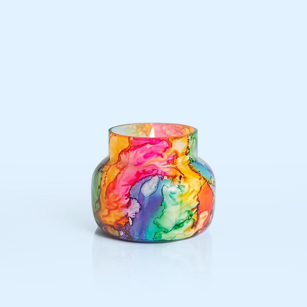 Volcano Rainbow Watercolor Petite Jar  8oz