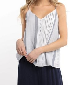 Multi Stripe Cami Navy