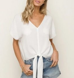 Tie Front Crop Top White