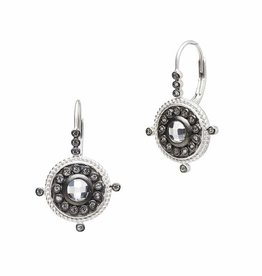 Freida Rothman Nautical Button Leverback Earring