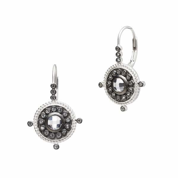 Freida Rothman Nautical Button Leverback Earring