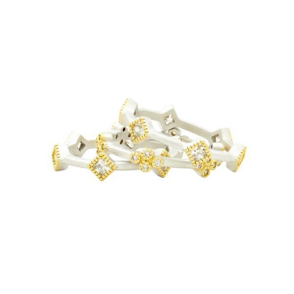 Freida Rothman Fleur Bloom 3 Stack Ring Gold/Silver