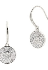 Freida Rothman Radiance Pave Disc Fishhook Earrings