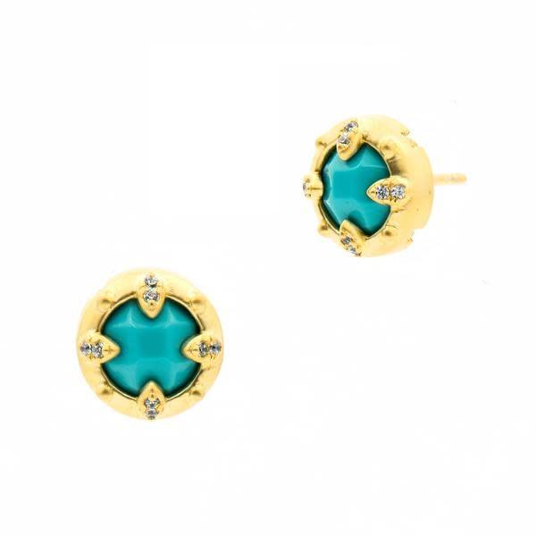 Fleur Bloom Empire Turquoise Stud Earring