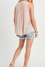 Mesh Embroidered Romantic Top Blush