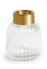"""Jasper Fluted Glass Vase 4.25"""""""