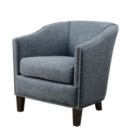 Fremont Barrel Arm Chair Slate Blue