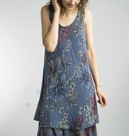 Floral Print Ruffle Gauze Dress