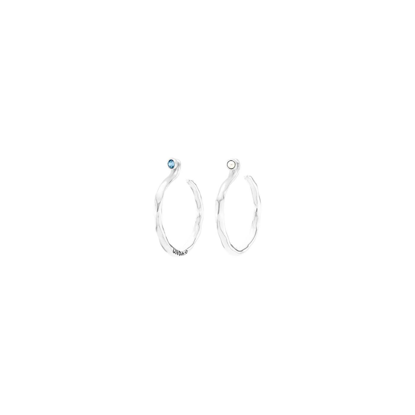 Uno de 50 Under Protection Earrings Silver