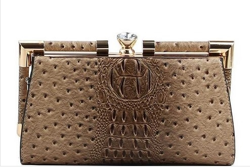 Croco Structured Evening Clutch
