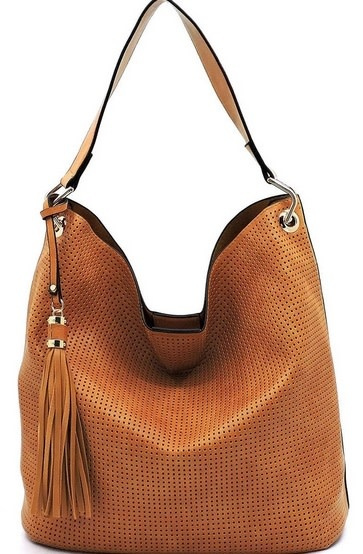 Perforated 2 in 1 Bucket Satchel