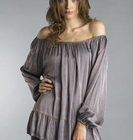 Dyed Satin Tunic Lavender