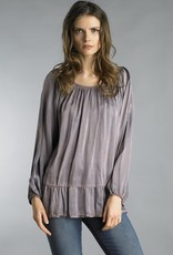Dyed Satin Tunic Lavender