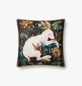 Vintage Rabbit Pillow - 18 x 18