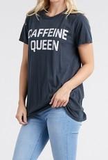 Caffeine Queen Graphic Tee Charcoal